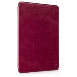Hoco - Crystal series classic bőr iPad Air 2 tablet tok - bor vörös