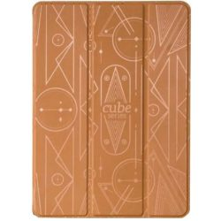 Hoco - Cube series nyomott mintázatú  iPad Air 2 tablet tok - barna