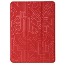 Hoco - Cube series nyomott mintázatú  iPad Air 2 tablet tok - piros