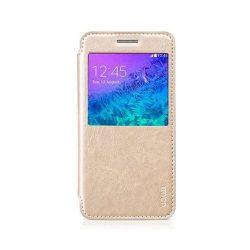 Hoco - Crystal series classic bőr magnetic sleep Samsung A5 (2015) könyv tok - arany