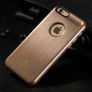 Hoco - Black series fém hatású iPhone 6plus/6splus tok - bronz
