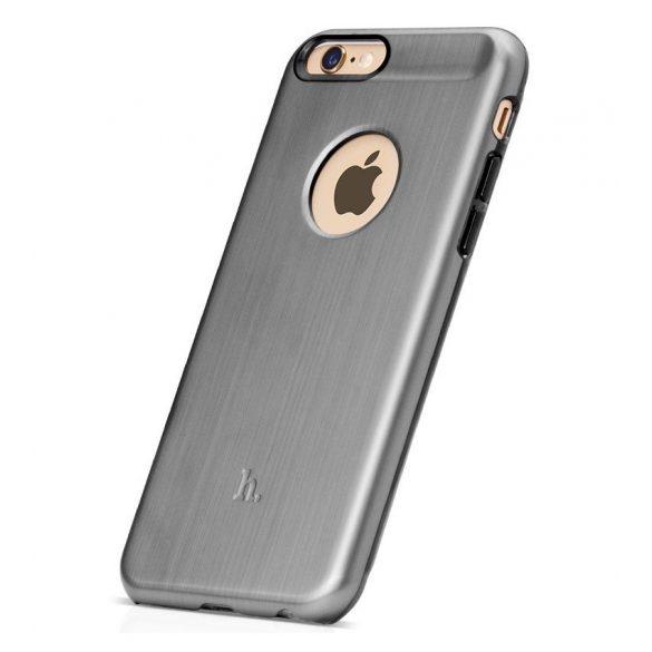 Hoco - Black series fém hatású iPhone 6plus/6splus tok - szürke