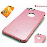 Hoco - Black series fém hatású iPhone 6plus/6splus tok - pink
