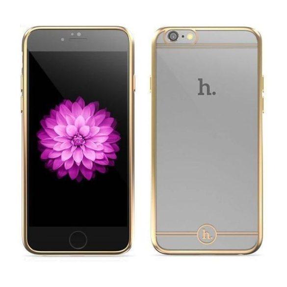 Hoco - Black series Fresh matt fémhatású keretes iPhone 6/6s tok - arany