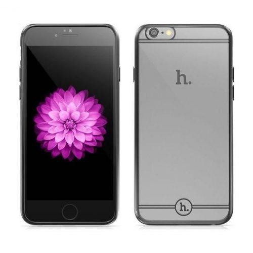 Hoco - Black series Fresh matt fémhatású keretes iPhone 6/6s tok - szürke