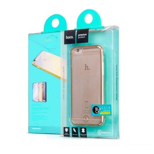 Hoco - Black series Fresh matt fémhatású keretes iPhone 6plus/6splus tok - arany