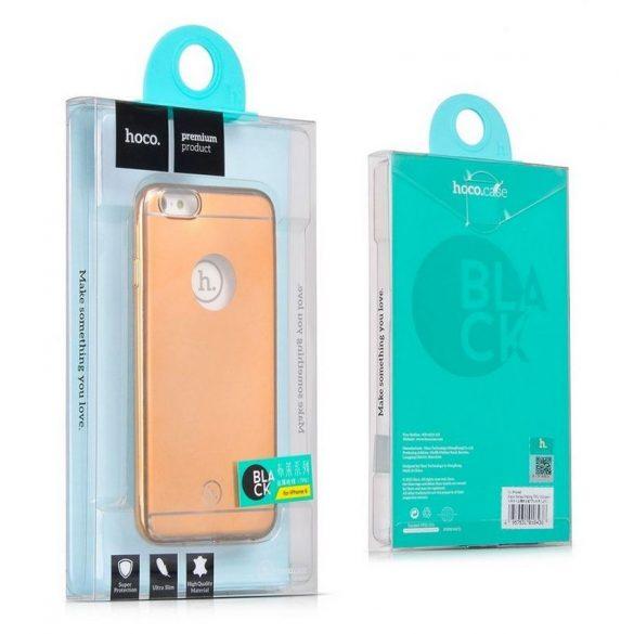 Hoco - Black series matt fémes felületű iPhone 6plus/6splus tok - arany