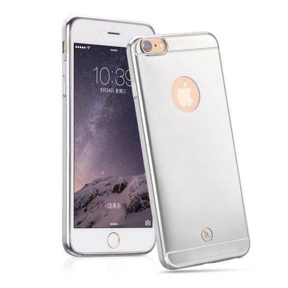 Hoco - Black series matt fémes felületű iPhone 6plus/6splus tok - ezüst