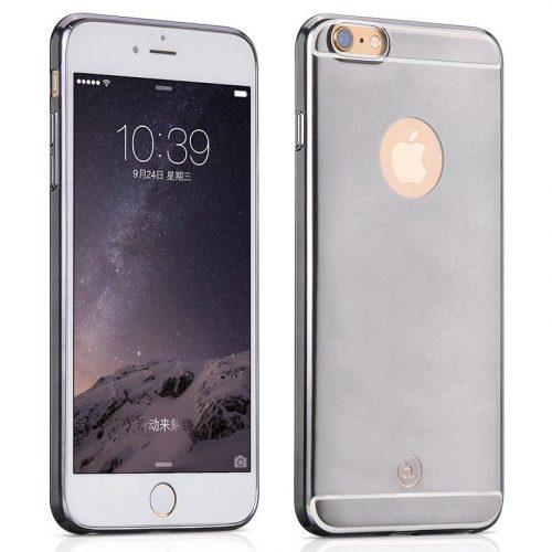 Hoco - Black series matt fémes felületű iPhone 6plus/6splus tok - fekete