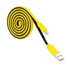 Hoco - UPM09 lapos design micro usb adat/töltő kábel 120cm - sárga
