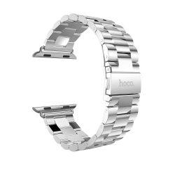 Hoco - Grand series 3 soros fém rozsdamentes acél óraszíj Apple Watch 38/40 mm - ezüst
