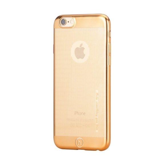 Hoco - Black series matt fémhatású bevonattal függ. vonalazott iPhone 6/6s tok - arany