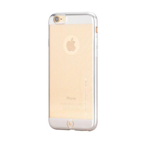 Hoco - Black series matt fémhatású bevonattal függ. vonalazott iPhone 6plus/6splus tok - ezüst
