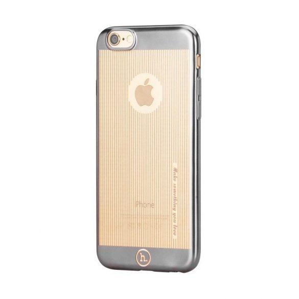Hoco - Black series matt fémhatású bevonattal függ. vonalazott iPhone 6plus/6splus tok - fekete