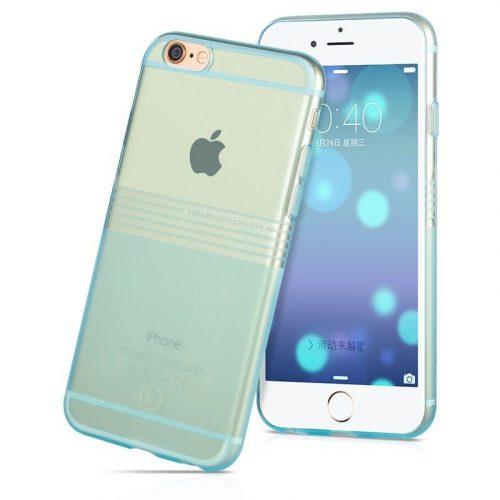 Hoco - Black series matt bevonattal vízsz. vonalazott iPhone 6/6s tok - kék