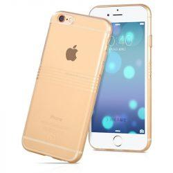 Hoco - Black series matt bevonattal vízsz. vonalazott iPhone 6plus/6splus tok - arany
