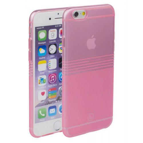 Hoco - Black series matt bevonattal vízsz. vonalazott iPhone 6plus/6splus tok - pink