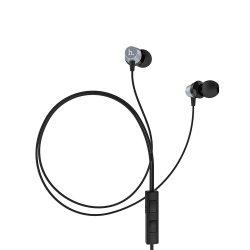 Hoco - EPM02 univerzális stereo fülhallgató mikrofonnal 120cm - acélszürke