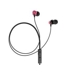 Hoco - EPM02 univerzális stereo fülhallgató mikrofonnal 120cm - piros