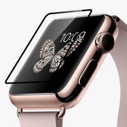 Hoco - 0,1 mm edzett üveg full fekete keretes Apple Watch 38 mm