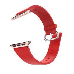 Hoco - Art series pago bőr óraszíj Apple Watch 42 mm - piros