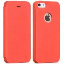Hoco - Juice series matt nappa bőr iPhone 5/5s/se könyv tok - piros