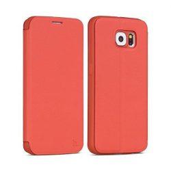 Hoco - Juice series matt nappa bőr Samsung S6 könyv tok - piros