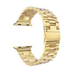 Hoco - Grand series 3 soros fém rozsdamentes acél óraszíj Apple Watch 38/40 mm - arany