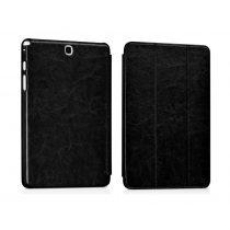 Hoco - Crystal series bőr Samsung Tab A 8.0 tablet tok - fekete