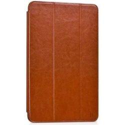 Hoco - Crystal series bőr Samsung Tab 4 8.0 T330 SM-T335 tablet tok - barna