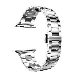 Hoco - Grand series 3 soros vékonyított fém rozsdamentes acél óraszíj Apple Watch 42/44 mm - ezüst