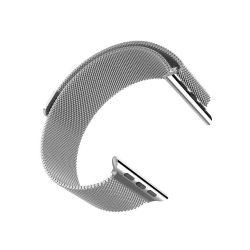 Grand series Milánói fémszövet rozsdamentes acél óraszíj Apple Watch 38/40 mm - ezüst