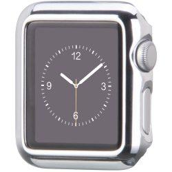 Hoco - okos óra műanyag védőtok Apple Watch 38 mm - ezüst