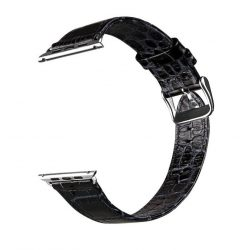 Hoco - Art series krokodil bőr óraszíj Apple Watch 42 mm - fekete