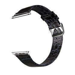 Hoco - Art series krokodil bőr óraszíj Apple Watch 38 mm - fekete