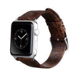 Hoco - Art series krokodil bőr óraszíj Apple Watch 38/40 mm - barna