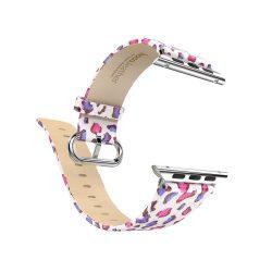 Hoco - Lucida series rózsaszín párduc bőr óraszíj Apple Watch 42/44 mm - színes