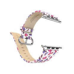 Hoco - Lucida series rózsaszín párduc bőr óraszíj Apple Watch 38 mm - színes