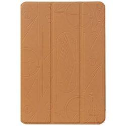 Hoco - Cube series nyomott mintázatú  iPad mini 4 tablet tok - barna