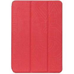 Hoco - Cube series nyomott mintázatú  iPad mini 4 tablet tok - piros