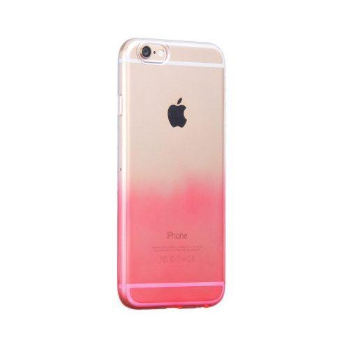 Hoco - Black series átlátszó színátmenetes iPhone 6plus/6splus tok - piros