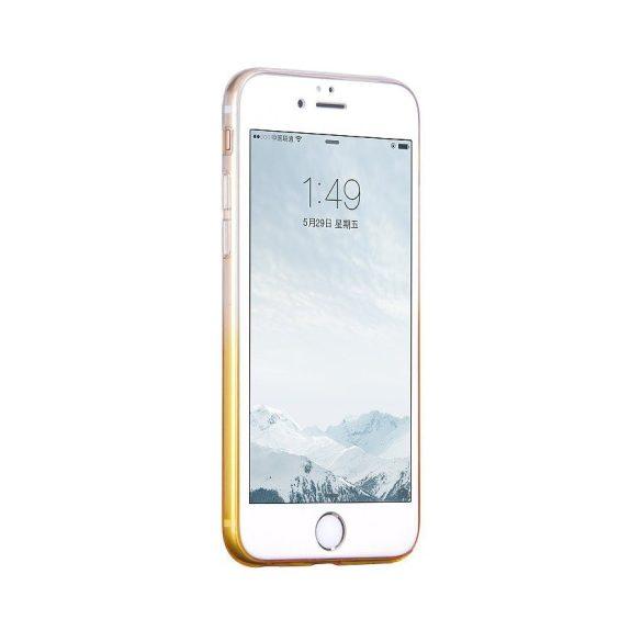 Hoco - Black series átlátszó színátmenetes iPhone 6plus/6splus tok - sárga