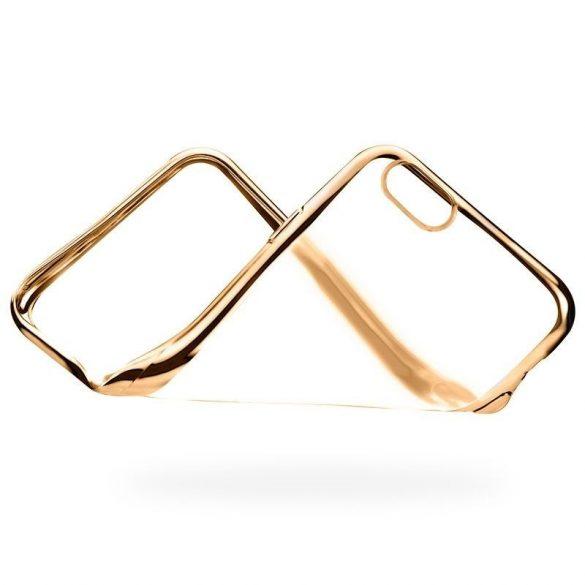 Hoco - Black series fényes fémes keretes iPhone 6/6s tok - arany