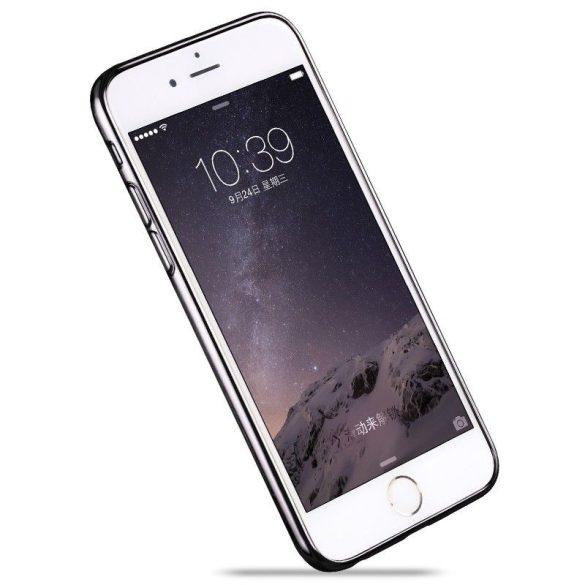 Hoco - Black series fényes fémes keretes iPhone 6/6s tok - szürke