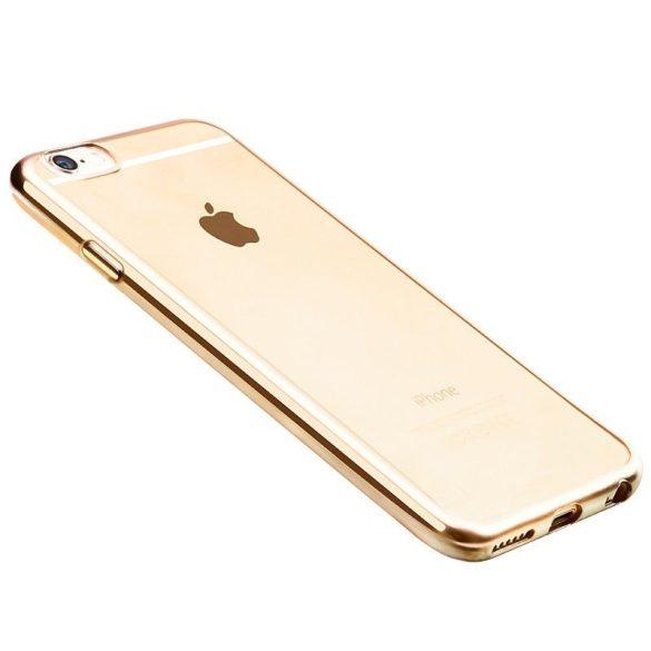 Hoco - Black series fényes fémes keretes iPhone 6plus/6splus tok - arany