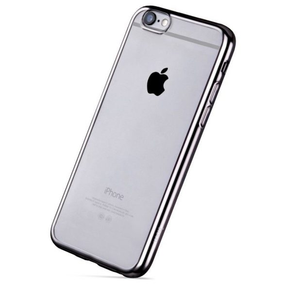 Hoco - Black series fényes fémes keretes iPhone 6plus/6splus tok - szürke