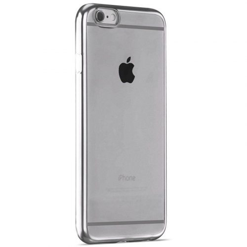 Hoco - Black series fényes fémes keretes iPhone 6plus/6splus tok - ezüst