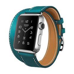 Hoco - Art series Hermes bőr óraszíj Apple Watch 42 mm - sötétkék