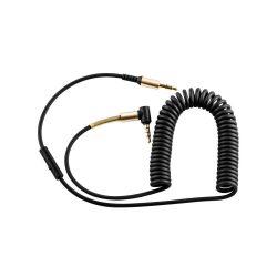 Hoco - UPA02 beépített mikrofonnal  24k bevonattal 3,5 mm jack audio kábel 200 cm - fekete