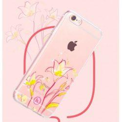 Hoco - Super star series liliom mintás iPhone 6plus/6splus tok - rózsaszín